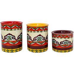Euro Ceramica Galicia 3-pc. Canister Set