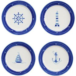 Euro Ceramica Ahoy 4-pc. Salad Plate Set