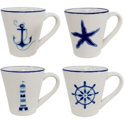 Euro Ceramica Ahoy 4-pc. Mug Set