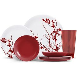 Thermoserv Dogwood Floral 16-pc. Dinnerware Set