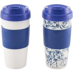 Design for Living 2-pc. Blue Flip Top Mug
