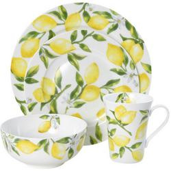 Lemons Bone China 16-pc. Dinnerware Set