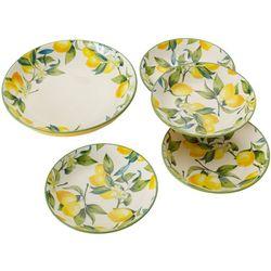 Classico Lemon 5-pc. Pasta Bowl Set