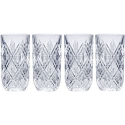 Mikasa Claremont 12 oz. Highball 4-pc. Glass Set