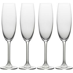 Julie 4-pc. Flute Glass Set