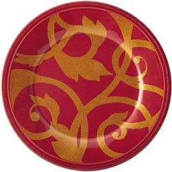 Rachael Ray Gold Scroll 8'' Salad Plate