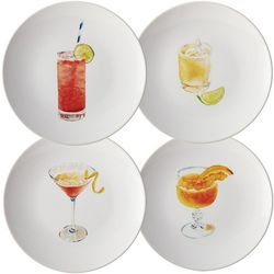 Cocktails 4-pc. Party Plate Set