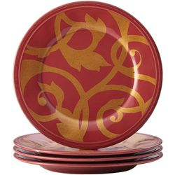 Gold Scroll 4-pc. Appetizer Plate Set