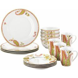 Rachael Ray Paisley 16-pc. Dinnerware Set
