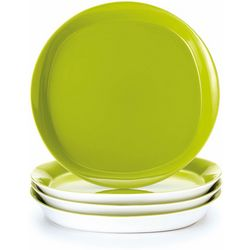 Rachael Ray Round & Square 4-pc. Dinner Plate Set