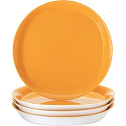 Round & Square 4-pc. Dinner Plate Set