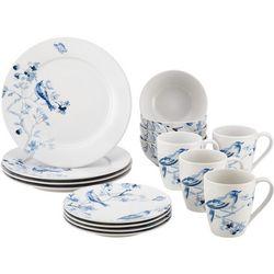 Paula Deen Indigo Blossom 16-pc. Dinnerware Set