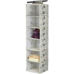 Home Basics Paris Collection 6-Shelf Closet Organizer
