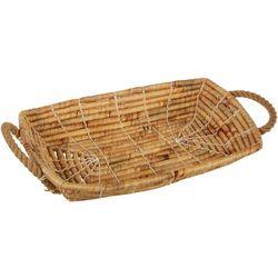 Uma Ent Woven Hyacinth Tray Basket