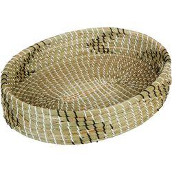 Uma Ent Woven Seagrass Oval Tray Basket
