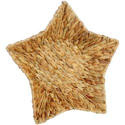 Uma Ent Woven Water Hyacinth Star Shaped Basket
