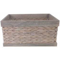 Fancy That Woven Wood Decorative Crate