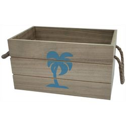 Fancy That Palm Tree Wood Decorative Crate
