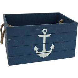 Fancy That Anchor Wood Decorative Crate