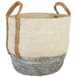 Fancy That Colorblocked Jute Woven Basket