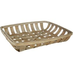 Fancy That Large Square Tobacco Woodchip Basket
