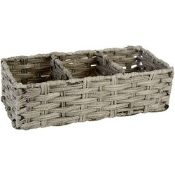 Whitmor Rattique 3-Section Tank Topper Basket