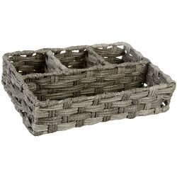 Whitmor Rattique 4-Section Tray Basket