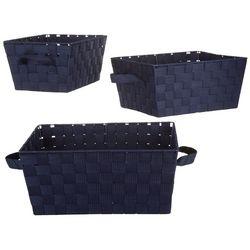 Whitmor 3-pk. Woven Strap Storage Baskets