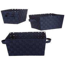 Whitmor 3-pk. Woven Strap Storage Baskets
