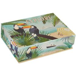Tri-Coastal Small Tropical Toucan Explore Flip Storage Box