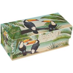 Tri-Coastal Large Tropical Toucan Flip Storage Box