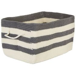 Interdesign Striped Knit Bin Storage Basket