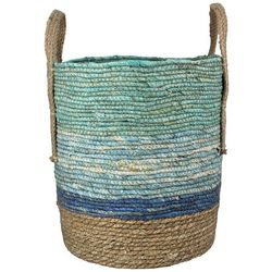 Young's Tall Blue Woven Basket