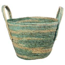 Young's Green Natural Woven Basket
