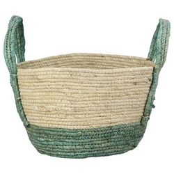 Young's Green Woven Basket