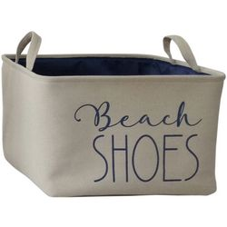 Azzure Large Beach Shoes Print Soft Storage Bin