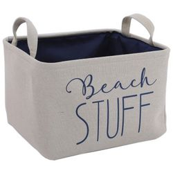 Azzure Small Beach Stuff Print Soft Storage Bin