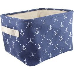 Azzure Anchor Print Soft Storage Bin