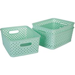 Kenton Grey 3-pc. Basket Weave Storage Bins