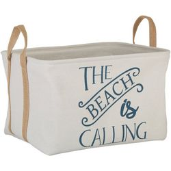 Azzure Large The Beach Is Calling Storage Bin