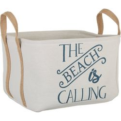 Azzure Small The Beach Is Calling Storage Bin