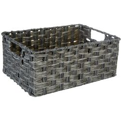 Straw Studios Grey Wash Rectangular Woven Basket