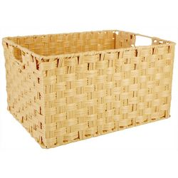 Straw Studios Large Natural Rectangular Woven Basket