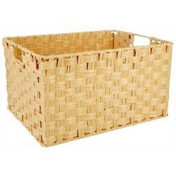 Straw Studios Plastic Rectangular Woven Basket