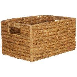 Straw Studios Woven Rectangular Decorative Storage Basket