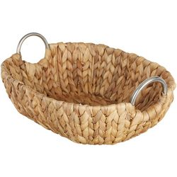 Straw Studios Oval Woven Serving Tray