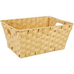 Straw Studios Woven Angled Rectangular Basket