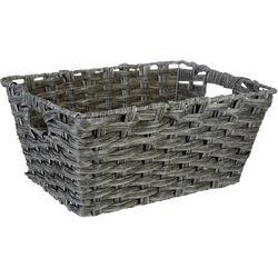Straw Studios Woven Angled Rectangular Basket