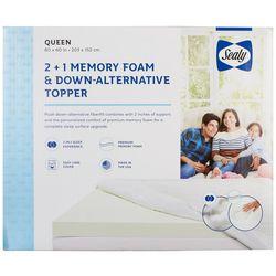 Sealy 2 + 1 Memory Foam & Down Alternative Mattress Topper