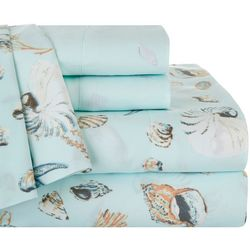 Coastal Home Oceanside Print & Embroidered Sheet Set